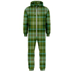 Vintage Green Plaid Hooded Jumpsuit (men)  by HermanTelo
