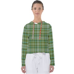 Vintage Green Plaid Women s Slouchy Sweat