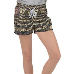 Vintage Style Women s Velour Lounge Shorts by HermanTelo