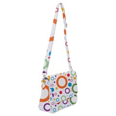 Wallpaper Circle Shoulder Bag With Back Zipper by HermanTelo