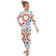 Wallpaper Circle Kids  Long Sleeve Set