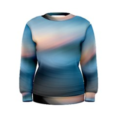 Wave Background Women s Sweatshirt by HermanTelo
