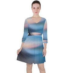 Wave Background Ruffle Dress by HermanTelo