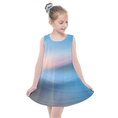 Wave Background Kids  Summer Dress by HermanTelo