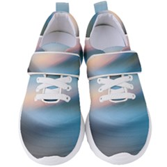 Wave Background Women s Velcro Strap Shoes by HermanTelo