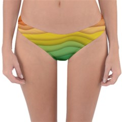 Waves Texture Reversible Hipster Bikini Bottoms