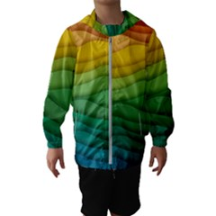 Waves Texture Kids  Hooded Windbreaker