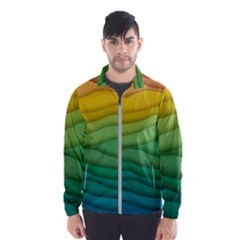 Waves Texture Men s Windbreaker
