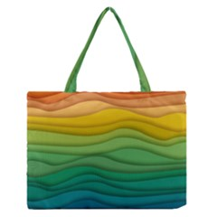 Waves Texture Zipper Medium Tote Bag