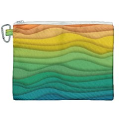 Waves Texture Canvas Cosmetic Bag (xxl)
