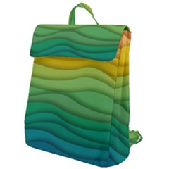 Waves Texture Flap Top Backpack