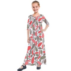Zappwaits Artdesign Kids  Quarter Sleeve Maxi Dress by zappwaits
