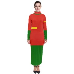 Flag Of People s Liberation Army Ground Force Turtleneck Maxi Dress by abbeyz71