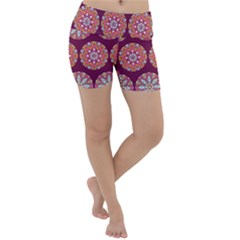 Modern Mandala Design Lightweight Velour Yoga Shorts by tarastyle