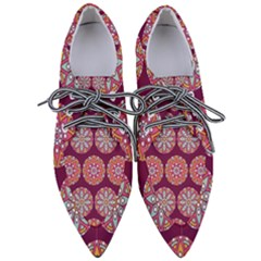 Modern Mandala Design Pointed Oxford Shoes by tarastyle