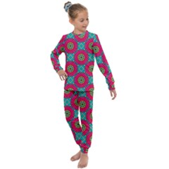Modern Mandala Design Kids  Long Sleeve Set  by tarastyle