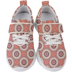 Modern Mandala Design Kids  Velcro Strap Shoes by tarastyle
