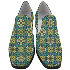 Modern Mandala Design Slip On Heel Loafers by tarastyle