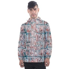 Asian Illustration Posters Collage Men s Front Pocket Pullover Windbreaker by dflcprintsclothing
