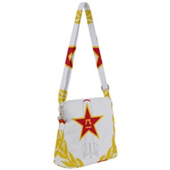 Badge Of People s Liberation Army Rocket Force Zipper Messenger Bag