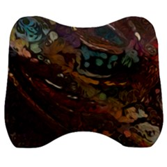 Abstract Art Velour Head Support Cushion
