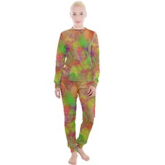 Easter Egg Colorful Texture Women s Lounge Set