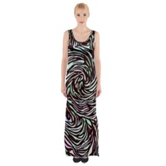 Stained Glass Maxi Thigh Split Dress