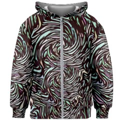 Stained Glass Kids  Zipper Hoodie Without Drawstring