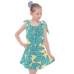 Leaves Dried Kids  Tie Up Tunic Dress