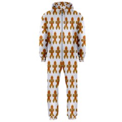 Gingerbread Men Hooded Jumpsuit (men)  by Mariart