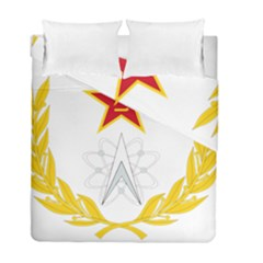 Badge Of People s Liberation Army Strategic Support Force Duvet Cover Double Side (full/ Double Size) by abbeyz71