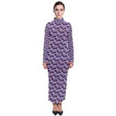 Halloween Bat Turtleneck Maxi Dress
