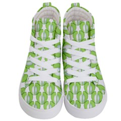 Herb Ongoing Pattern Plant Nature Kids  Hi Top Skate Sneakers