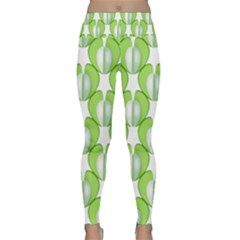 Herb Ongoing Pattern Plant Nature Lightweight Velour Classic Yoga Leggings
