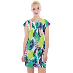 Leaves Rainbow Pattern Nature Cap Sleeve Bodycon Dress by Alisyart