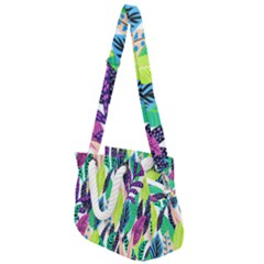 Leaves Rainbow Pattern Nature Rope Handles Shoulder Strap Bag