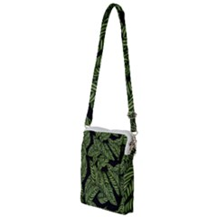 Leaves Painting Black Background Multi Function Travel Bag