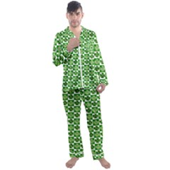 Clover Shamrock St Patricks Day Men s Satin Pajamas Long Pants Set