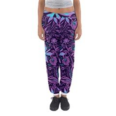 Stamping Pattern Leaves Purple Women s Jogger Sweatpants by AnjaniArt