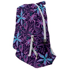 Stamping Pattern Leaves Purple Travelers  Backpack by AnjaniArt