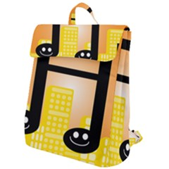 Abstract Anthropomorphic Art Flap Top Backpack by Bajindul