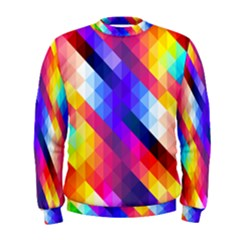 Abstract Blue Background Colorful Pattern Men s Sweatshirt