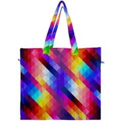 Abstract Blue Background Colorful Pattern Canvas Travel Bag