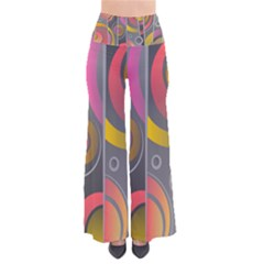 Abstract Colorful Background Grey So Vintage Palazzo Pants
