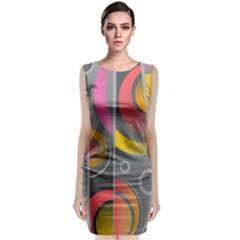 Abstract Colorful Background Grey Classic Sleeveless Midi Dress