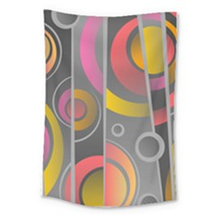 Abstract Colorful Background Grey Large Tapestry by Bajindul