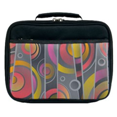 Abstract Colorful Background Grey Lunch Bag