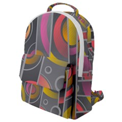 Abstract Colorful Background Grey Flap Pocket Backpack (small)