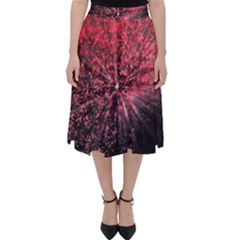 Abstract Background Wallpaper Classic Midi Skirt