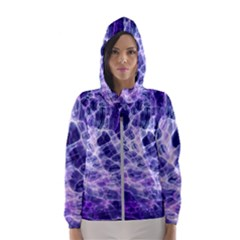 Abstract Space Women s Hooded Windbreaker by Bajindul